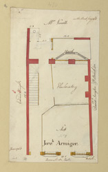 [8 Plan of property in Queen Street occupied by Jereh. Armiger, dated June 1768]